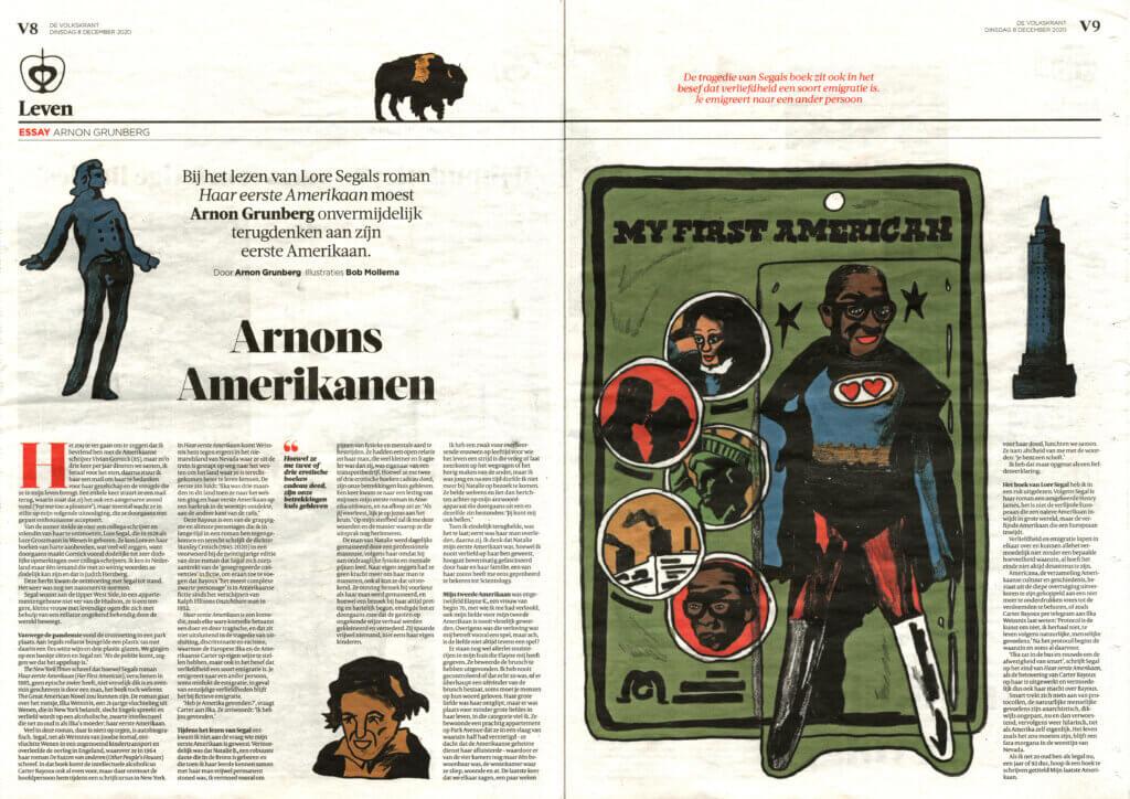 Bob Mollema Arnon Grunberg de Volkskrant Illustration Lore Segal My First American Editorial Illustration