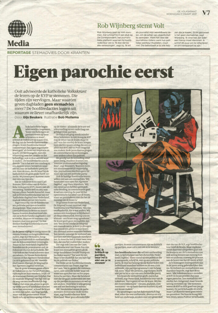 Bob Mollema De Volkskrant Editorial Illustration